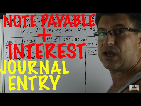Note Payable Repayment with Interest Journal Entry / Accounting for beginners #119 / Positivity