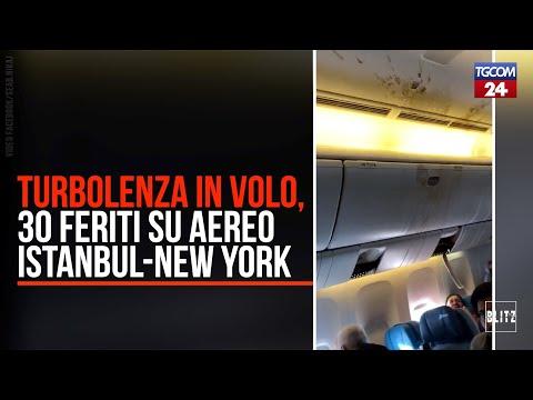 Turbolenza in volo, 30 feriti sull'Istanbul-New York