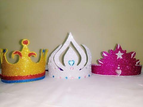 How to Make Crown ll Kids for Birthdays & Elsa Crown making tutorial