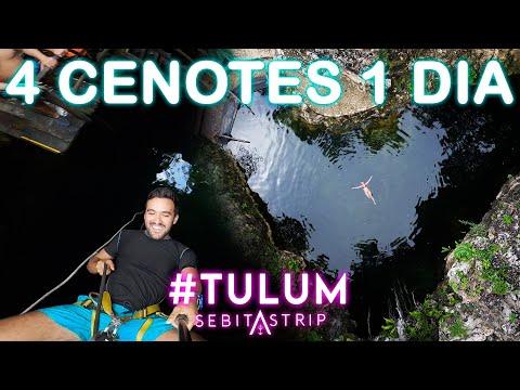 🧜♂️🌎INFRAMUNDO MAYA   4 CENOTES EN 1 DÍA EN TULUM   TIROLESAS   COMIDA   @sebitastrip