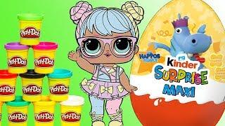 LOL Surprise • Ciasteczka Play Doh • Kinder Maxi Niespodzianka