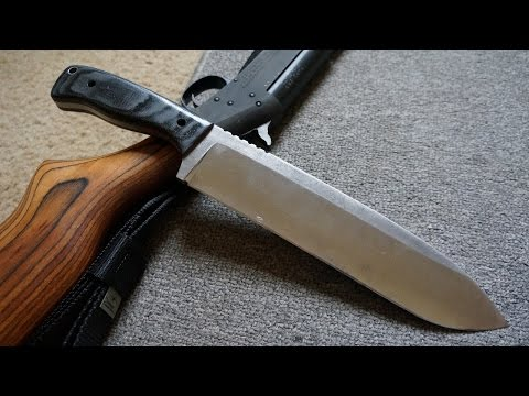Knifemaking: Making a 1075 High Carbon steel Chopper.