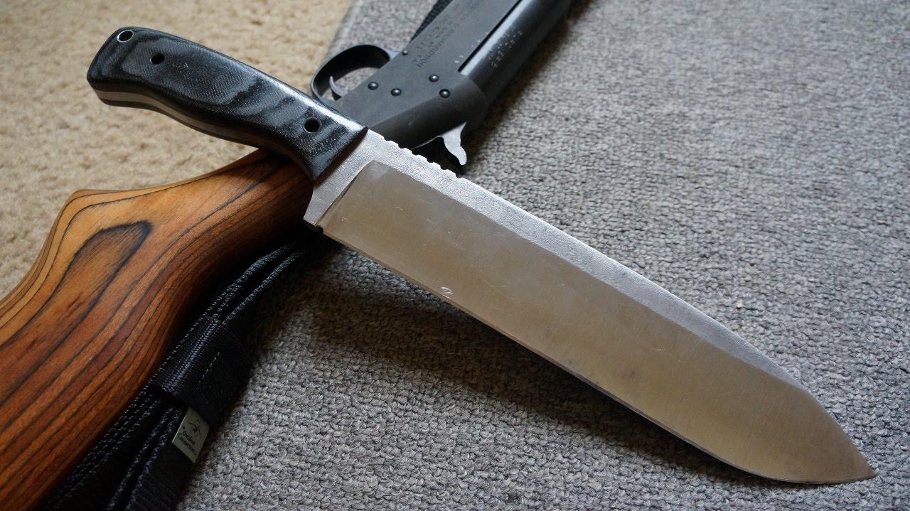 Knifemaking: Making a 1075 High Carbon steel Chopper