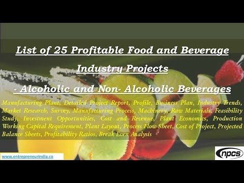 List of 25 Profitable Food and Beverage Industry Projects