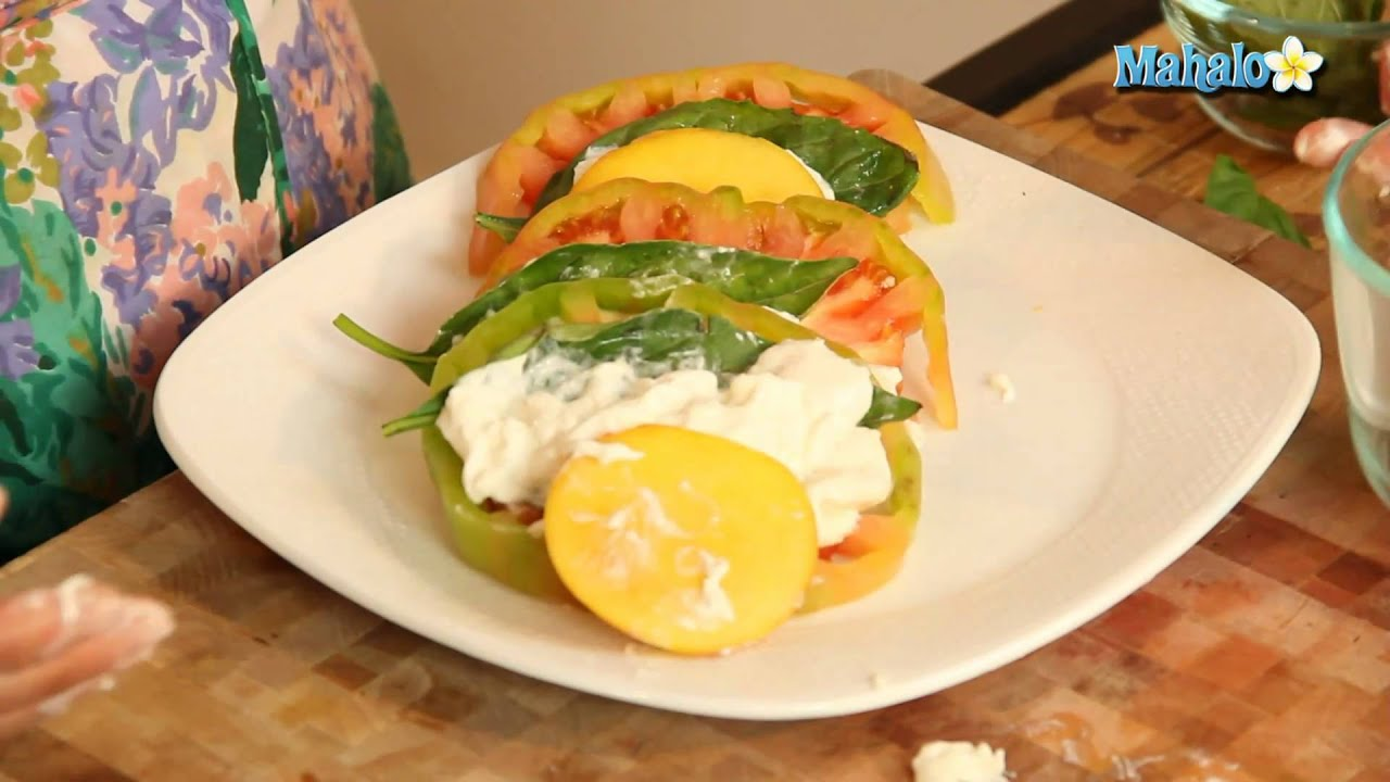 How to Make Heirloom Tomato Peach and Burrata Salad - YouTube