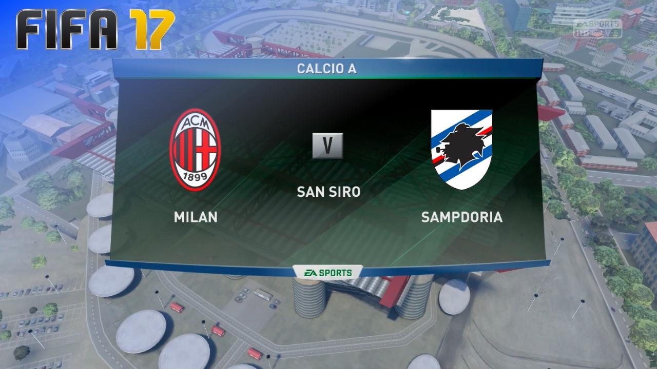 Fifa 17 ac milan vs sampdoria san siro youtube for Fifa 17 milan