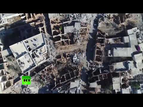 Drone footage reveals scale of destruction in Syrian cities
