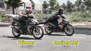 Winner 13 Triệu Xanh Mặt Khi Bố Láo Với  Exciter135 độ 62zz