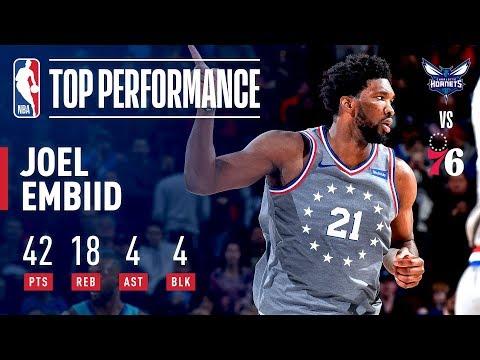 Joel Embiid Fills Up the Stat Sheet! 42 Pts 18 Rebs! | November 9, 2018