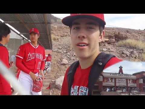 Seeing Shohei Ohtani Up Close At Angels Spring Training! | Angels Vlogs Ep 1
