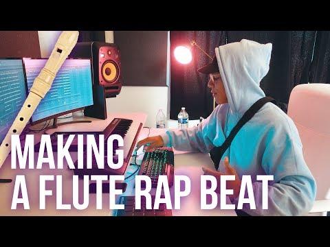 I MADE THIS CRAZY FLUTE TYPE BEAT!!! (Chuki Beats Making A Beat)