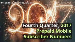 Fourth Quarter, 2017 Prepaid Mobile Subscriber Numbers By Operator