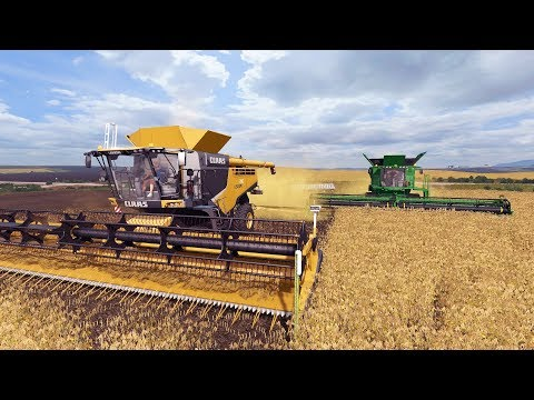 FARMING SIMULATOR 2017   ALL TRACKED COMBINE CREW + NEW 2017 F-250   SOYBEAN HARVEST   EP #27
