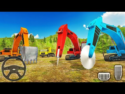 Heavy Excavator Rock Mining 3D - Stone Cutting Machines - Android Gameplay