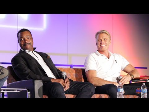 Carl Weathers and Dolph Lundgren  Apollo Creed, Ivan Drago Rocky Panel