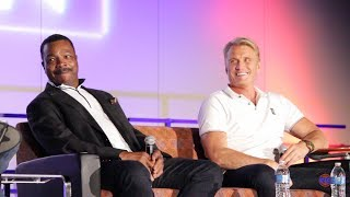 Carl Weathers and Dolph Lundgren - Apollo Creed, Ivan Drago Rocky Panel
