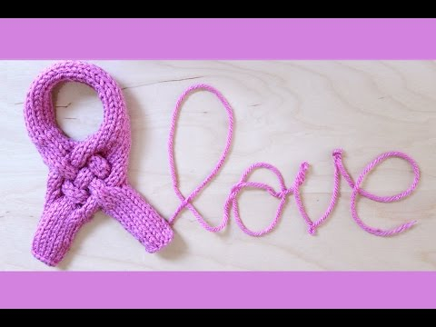 How to Knit a Pink Ribbon   Breast Cancer Awareness Month
