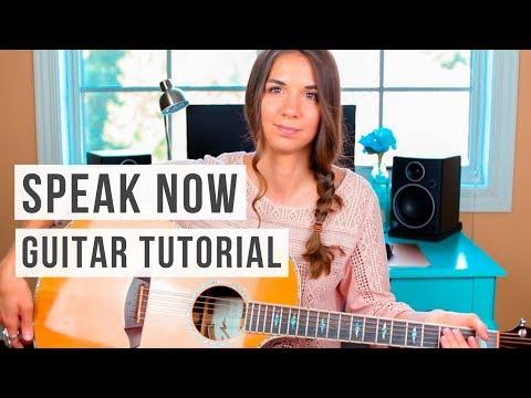 Speak Now - Taylor Swift // Guitar Tutorial