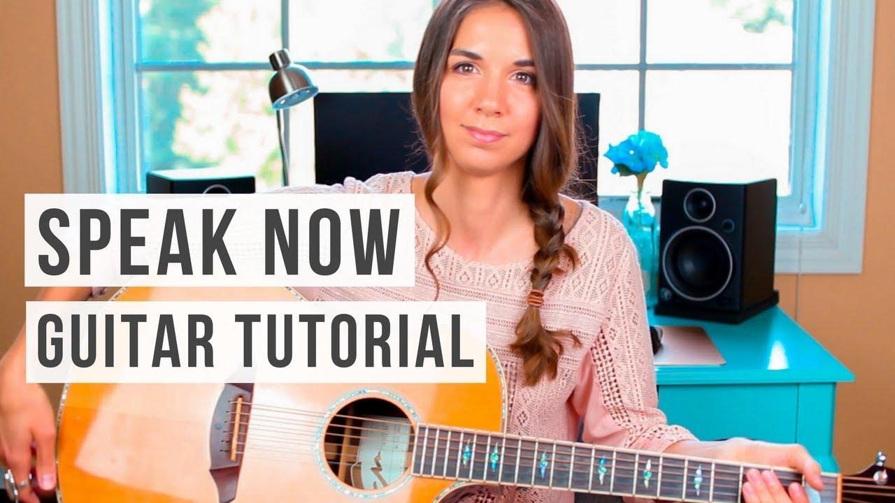 Speak Now Taylor Swift Guitar Tutorial Youtube