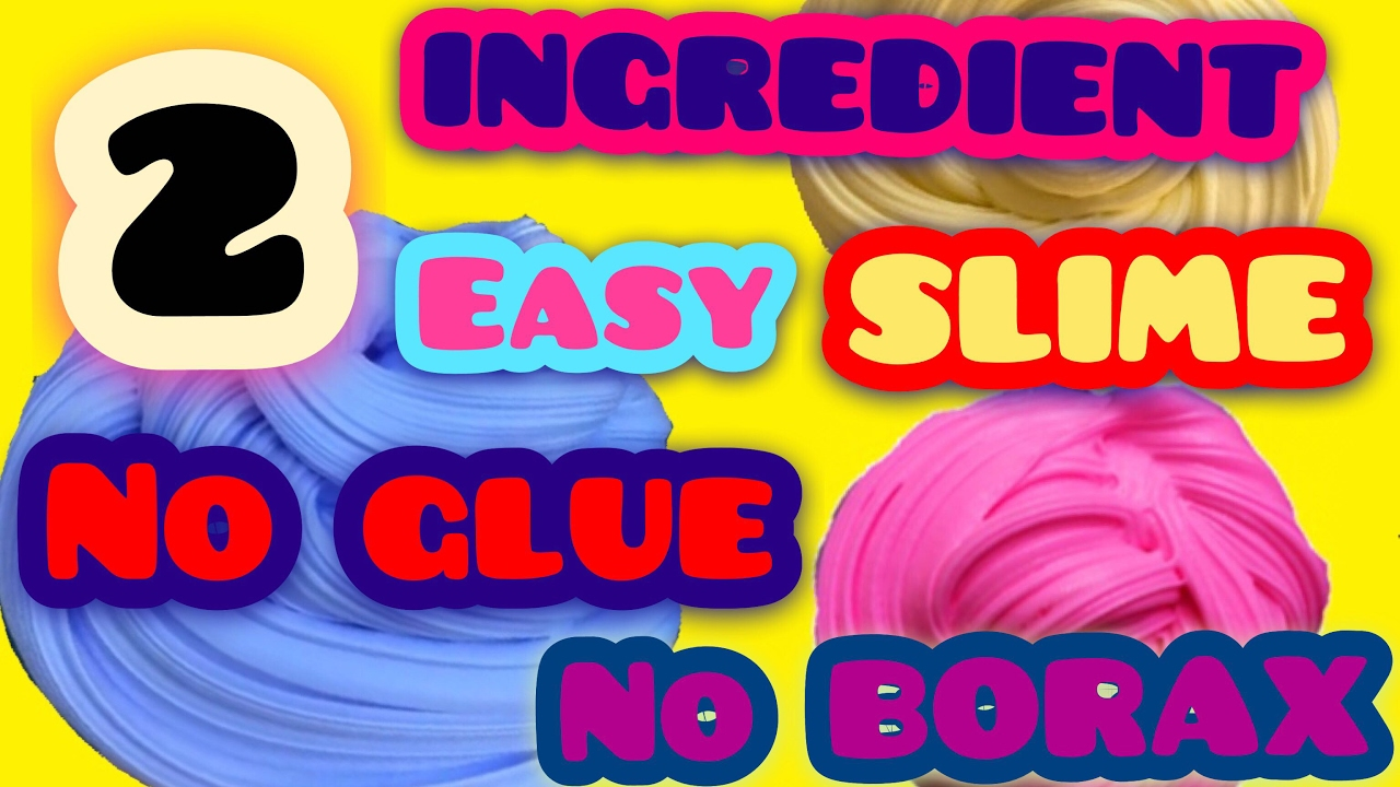 Two Ingredient Slime With Nail Polish! How To Make Slime Without Borax,  Detergent, Liquid Starch!