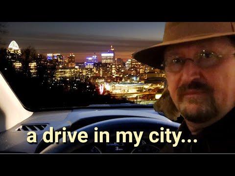 Night Drive - Driving Downtown Cincinnati & Northern Kentucky with Music!