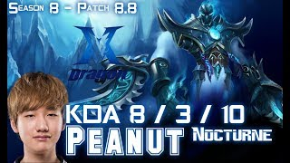 Baixar KZ Peanut NOCTURNE vs TRUNDLE Jungle - Patch 8.8 KR Ranked