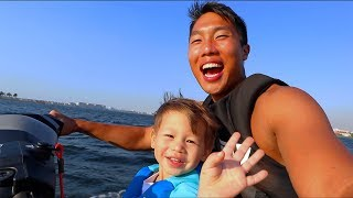 Kids First Time Riding A Jetski!