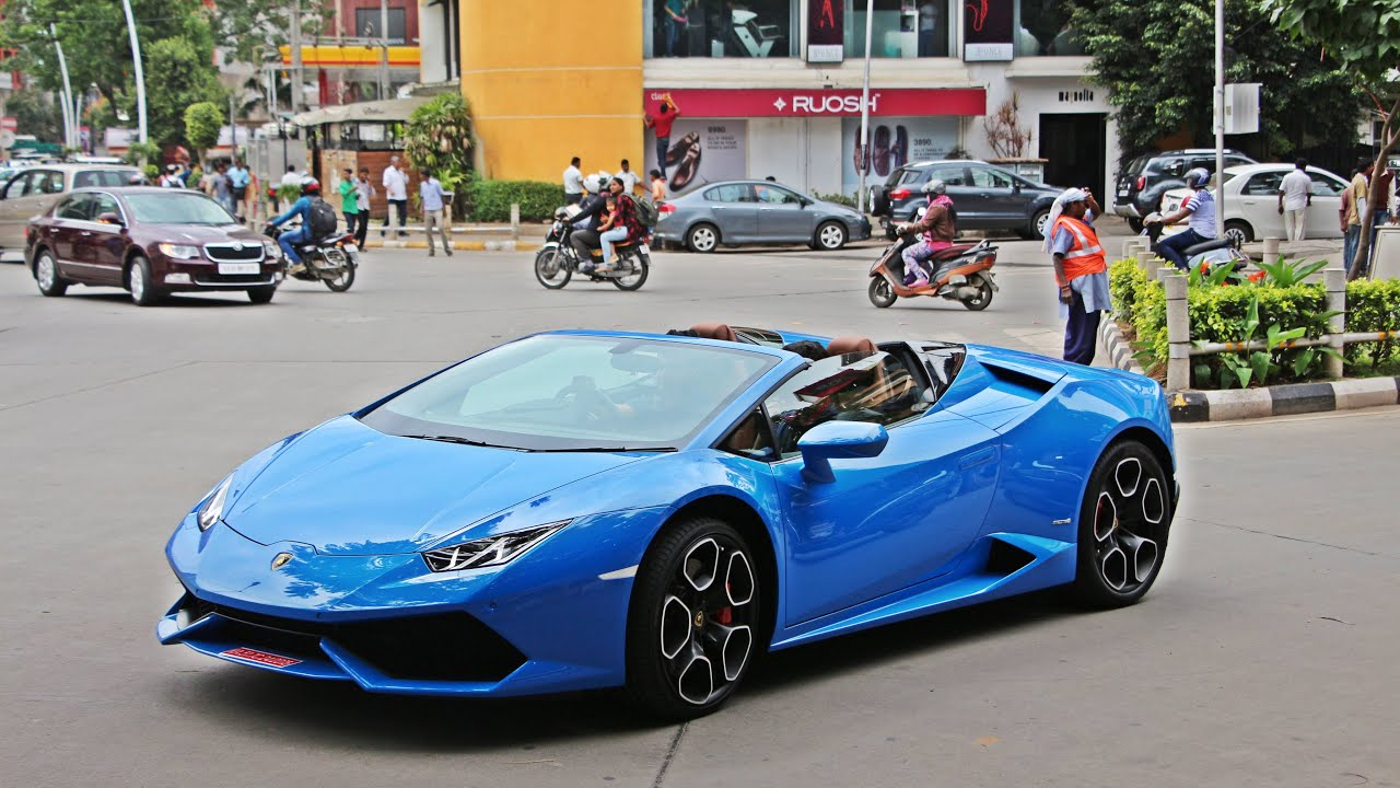 Lamborghini Huracan Spyder In India Bangalore Youtube