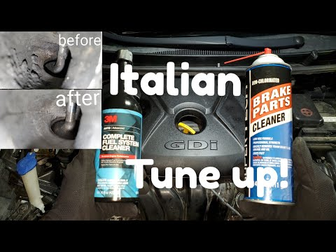 How to clean intake valves  Italian tune up!!! GDI