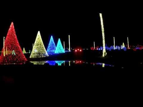Drive thru Christmas light show