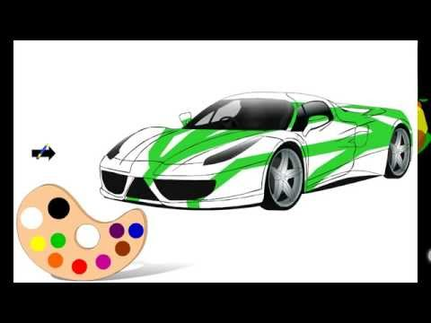 Colour Me: Cars - Android / iOS Car Painting Game 2015 Gameplay Review