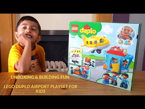 UNBOXING & BUILDING FUN LEGO DUPLO AIRPORT PLAYSET FOR KIDS