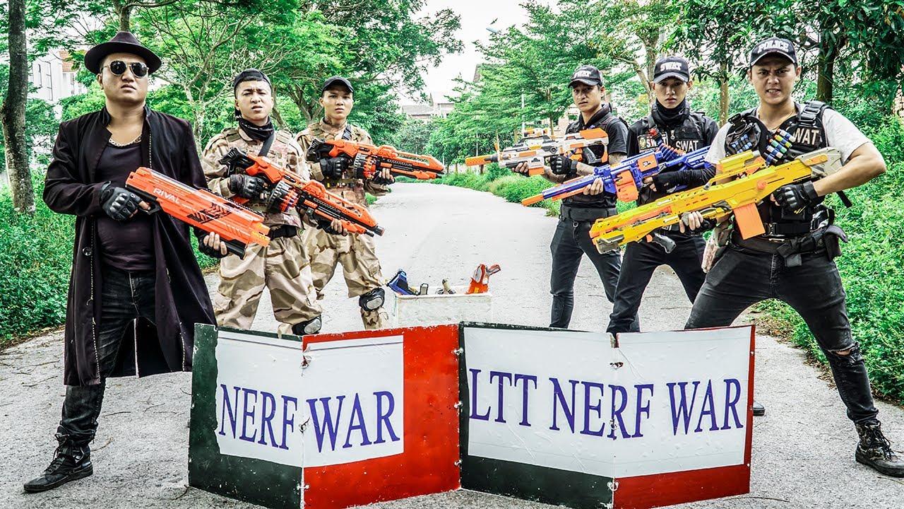 LTT Nerf War : Gamer's World Nerf Shooter SEAL X Warriors Nerf Guns Fight Dr Ken Crazy