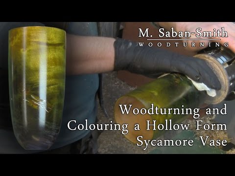 #80 Woodturning Project: Hollowing and Colouring a Sycamore Vase
