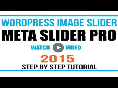 Wordpress Image Slider- Meta Slider Plugin Tutorial