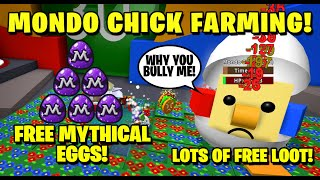 How to Farm Mondo Chick! Free Mythical EGGS! - Egg Hunt 2020 - Bee Swarm Simulator