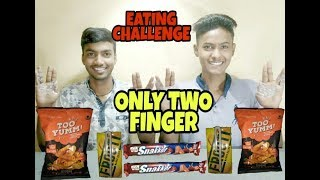 ONLY TWO FINGER || EATING & DRINKING CHALLENGE|| FOODIEZ COMPETITION||