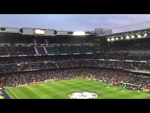 Real Madrid - Wolfsburgo Himnos Décima y Champions League 12/04/2016