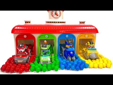 Thumbnail: Best Learning Colors Video for Children - Paw Patrol Gumball Surprise in Tayo Garage