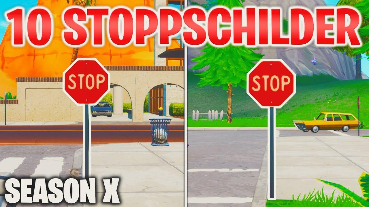 Zerstöre Stoppschilder