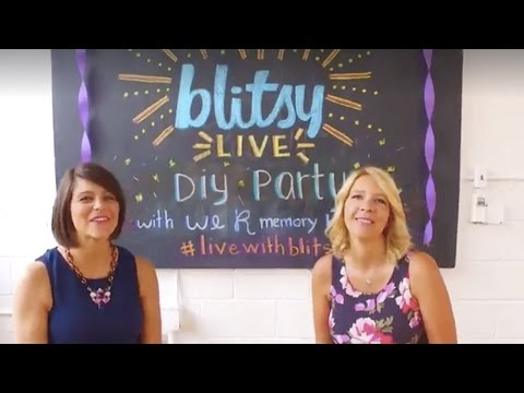 Live: We R Memory Keepers DIY Party