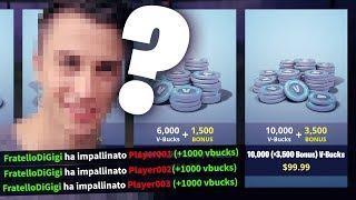 Ogni Kill di MIO FRATELLO Shoppo 1.000 V-BUCK! Fortnite ITA!