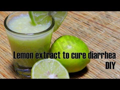 Lemon remedy to cure diarrhea - Tutorial