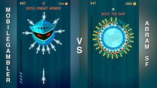ABRAM SF VS. MOBILEGAMBLER KNIFE HIT HIGHSCORE BATTLE!!!