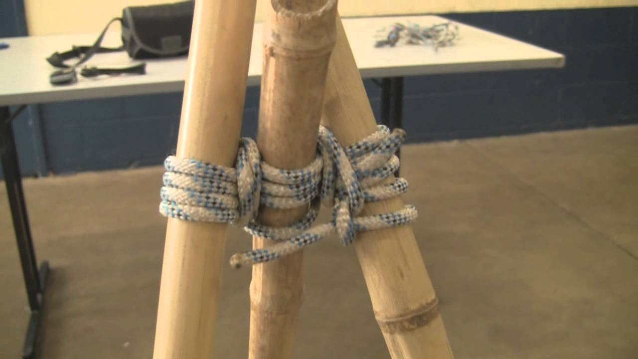How to make a bamboo tripod using lashings by Alex Chorley
