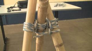 How To Make A Bamboo Tripod Using Lashings  By Alex Chorley, Age 10