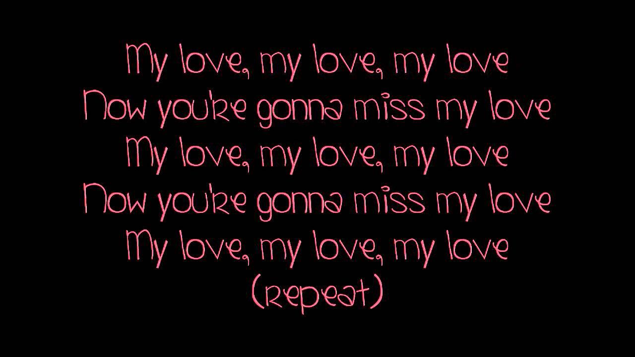 Tynisha Keli Miss My Love Lyrics Youtube