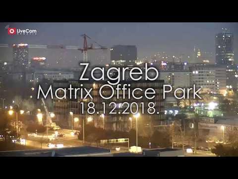 Zagreb - Matrix Office Park - skidanje dizalice - 18.12.2018.