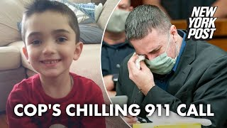 Michael Valva, NYPD cop charged in son's murder, tears up in court as 911 call plays | New York Post