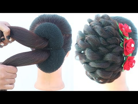 new-messy-french-bun-hairstyle-for-party-|-juda-hairstyle-|-hairstyles-for-girls-|-ladies-hair-style